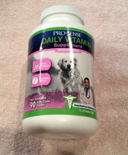 Pro-Sense Daily Vitamin Supplement For Senior Dogs 90 Chew Tablets Ex: 11/2018