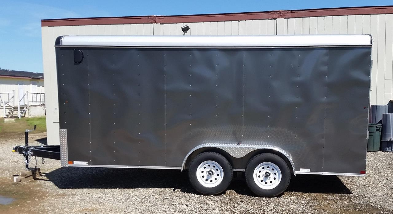 7' x 16' Tandem Enclosed Cargo Trailer 2017