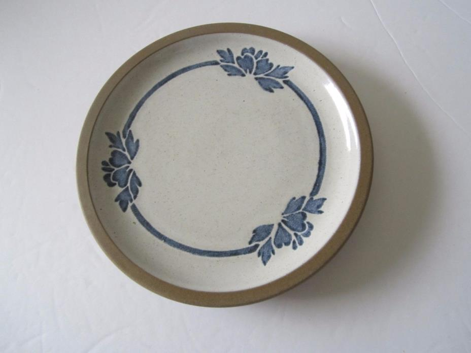 3 Blue Print England Bread & Butter Plates by Midwinter -Stoneworks, Blue Flower