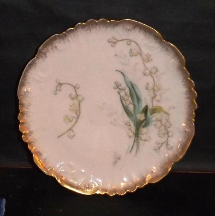 Beautiful Old AK Limoges Hand Painted Floral Decorated 7.5