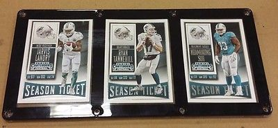 MIAMI DOLPHINS 3 CARD PLAQUE JARVIS LANDRY, RYAN TANNEHILL, SUH