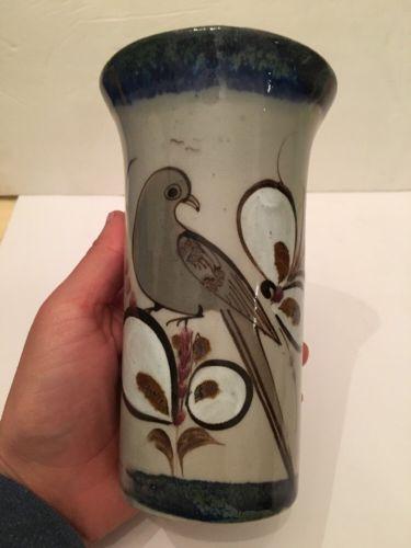 Ken Edwards El Palomar Tonala Mexican Pottery Vase 6.5