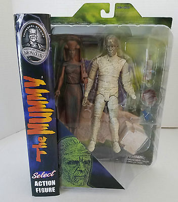 Diamond Select Toys Universal Monsters Select:  The Mummy 2 Action Figures NIP