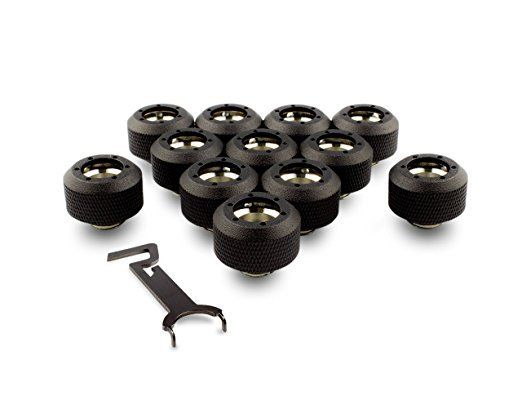 PrimoChill 1/2in. Rigid RevolverSX Series Fitting - TX Matte Black - 12 Pack