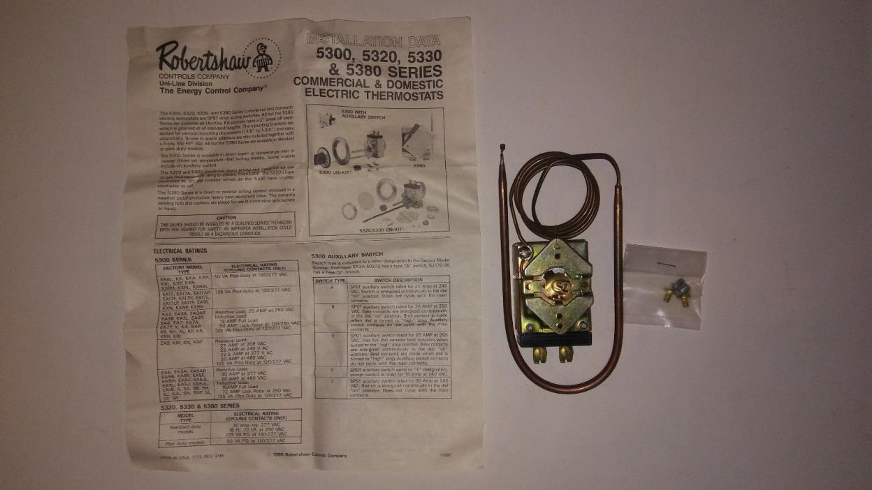S-234-36 Frigidaire Electric OVEN THERMOSTAT 46-1134 Robertshaw 5300-175