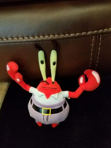 Ty Mr Krabs SpongeBob Beabie Baby Plush Plushies Stuffed Animal Money