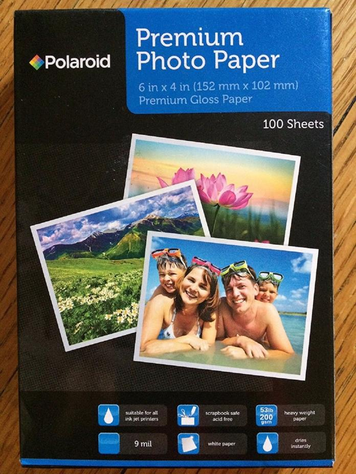 Polaroid Premium Gloss Photo Paper 6