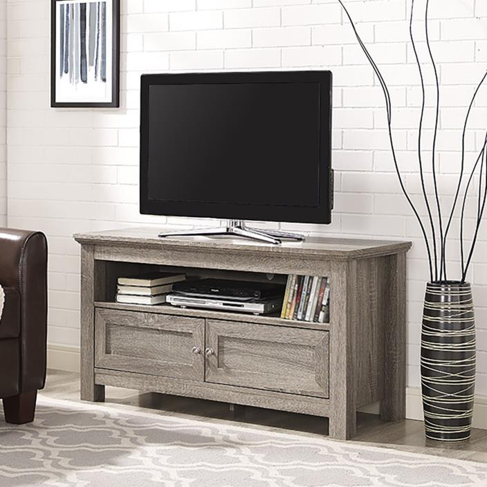 Driftwood Finish TV Entertainment Stand 44