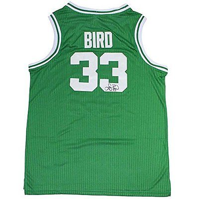 Larry Bird Signed Green Boston Celtics Jersey Larry Bird Holo Only