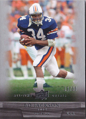 2012 Upper Deck All-Time Greats #76 Bo Jackson #/99