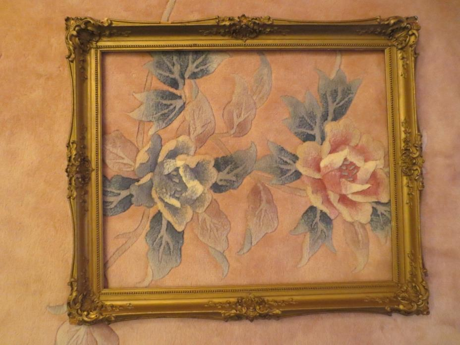Vintage Ornate Gilt Gesso Wood Picture Frame Fits 22x18 Art Overall 26x22