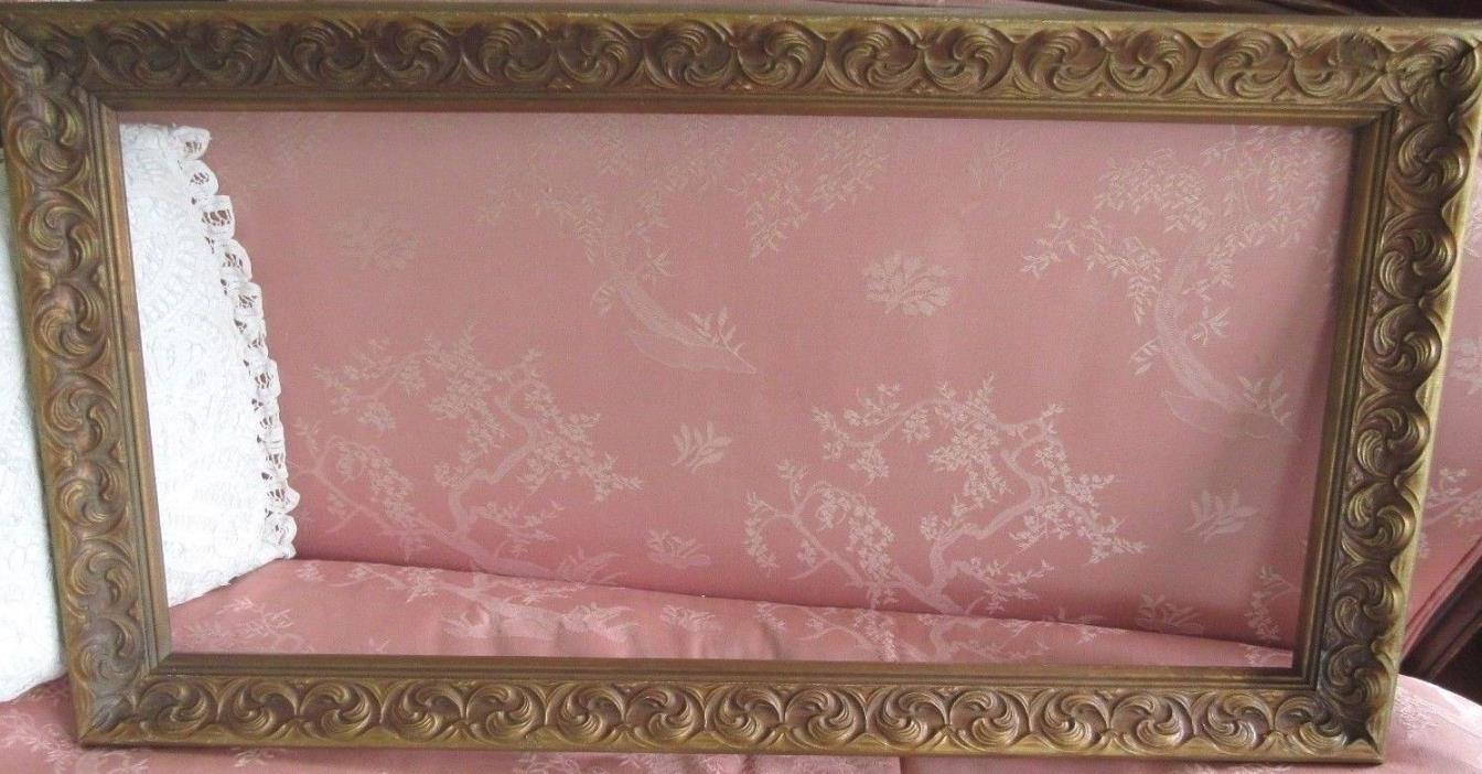 Vintage Ornate Frame Wood Gold Gesso Fits A 14x30