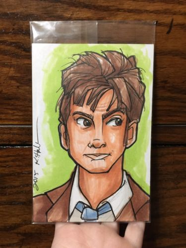 Karen Hallion Doctor Dr Who 10th Ten David Tennant Sketch Print 4x6