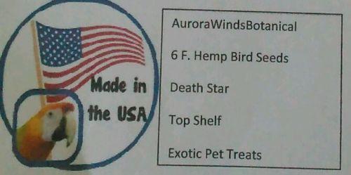 6 F. Hemp Bird Seeds Death Star Pet Treats