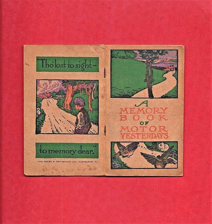 1910 MOTOR TRIP JOURNAL ~ B.F. GOODRICH TIRES ~ CALENDAR ~ MEMORY BOOK ~ DIARY
