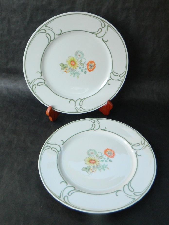 SANGO China   BROOKDALE -- (2) DINNER PLATES - 10 1/2