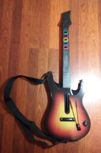 Playstation 3 Sunburst Guitar Hero Wireless Controller PS3 World Tour Red Octane