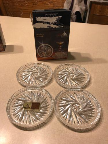 Lead Crystal Set Of 4 Coasters