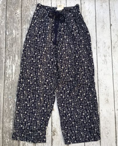Max Studio Collection Navy Blue Floral Lounge Pants Women's 0
