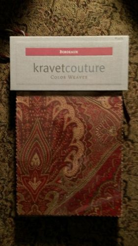 Bordeaux Kravet Couture Color Weaves #5425 upholstery swatch sample book Rare