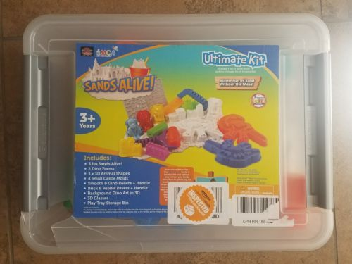 Sands Alive Ultimate Dino and Castle Sand Molds Set - Includes 18 Molds and Play