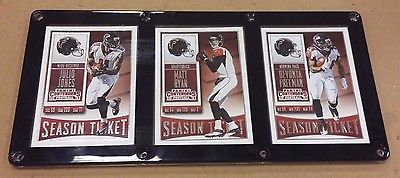 ATLANTA FALCONS 3 CARD PLAQUE JULIO JONES, MATT RYAN, DEVONTA FREEMAN