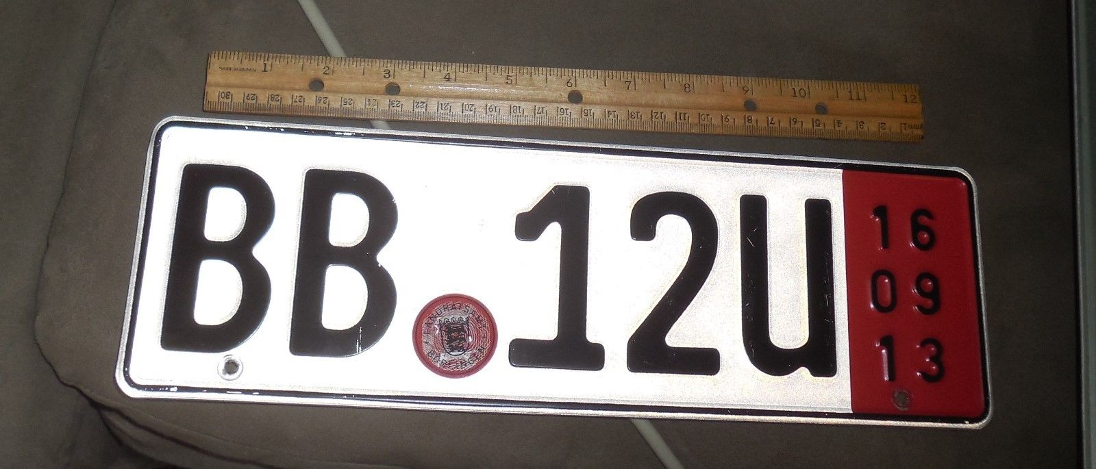 BB 12U  foreign license plate temporary for transporting car   free shipping