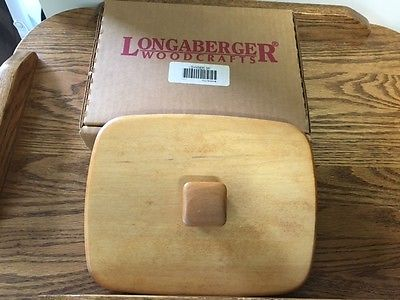 Longaberger Father's Day Address Basket Woodcrafts Lid in Box!!