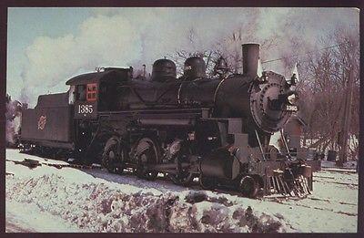 4-6-0 Alco 1385 Locomotive Freedom North Chicago Northwestern Railroad Postcard