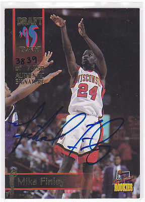 MICHAEL FINLEY WISCONSIN BADGERS 1995 SIGNATURE ROOKIES AUTOGRAPH AUTO CARD
