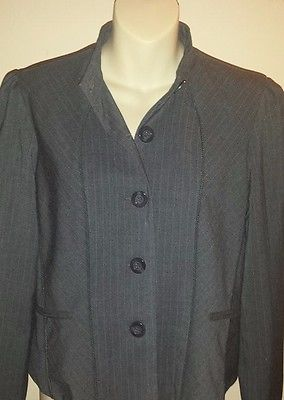 Blazer Jacket Grey Size 8 Ice Brand Women's Business Casual  Blazer Jacket