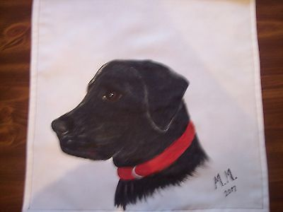 Black Lab Dog lovers, Black labrador puppy, Hand painted dog wall hanging