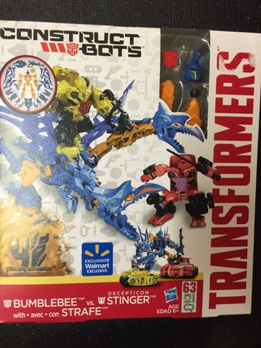 Transformers Construct Bots Brand New In Box Bumblebee Vs Strafe Deception Sting