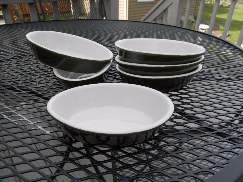 Set of 6 vintage Hall casserole au gratin dishes