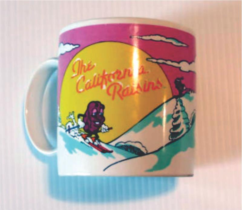 CALIFORNIA RASINS 1988 COFFEE MUG