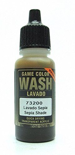 Brand New Vallejo Game Color Wash Paint 17ml Acrylic - Sepia Wash 73.200