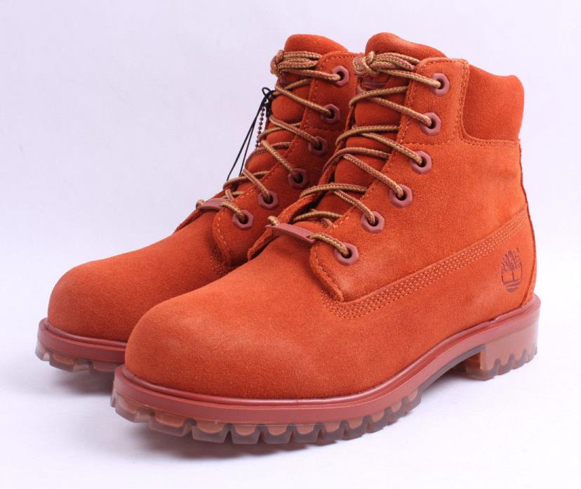 Timberland 6 Inch Premium Ice Sole Limited Boots TB0A1BKS Rust Grade School New