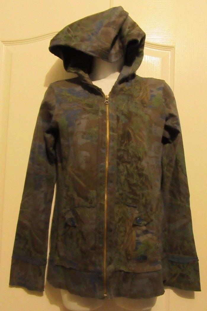 WOMENS REALTREE CAMO HOODIE JACKET SIZE MED ZIPPER FRONT LONG SLEEVES POCKETS
