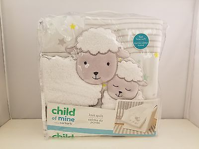 Child of Mine by Carter's Knit Quilt | Sheep Family | NEW