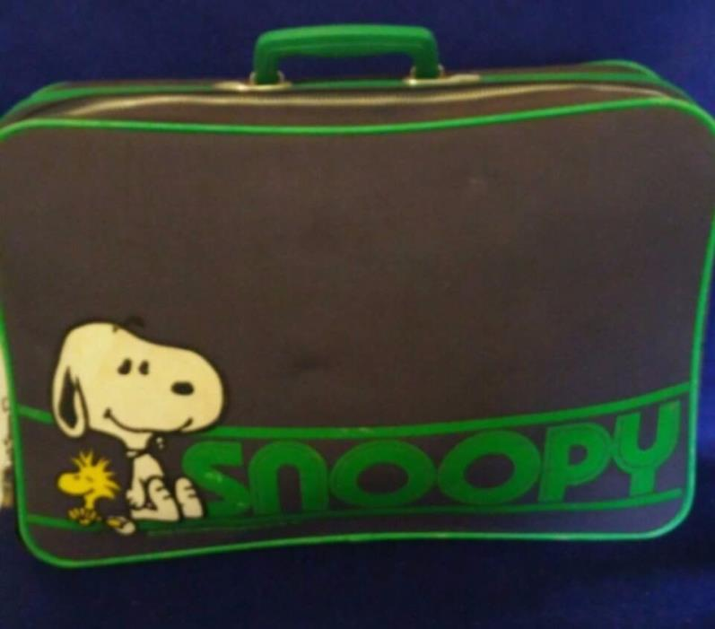 Vintage Aviva PEANUTS Snoopy Book Bag Suitcase Briefcase Luggage, Charlie Brown