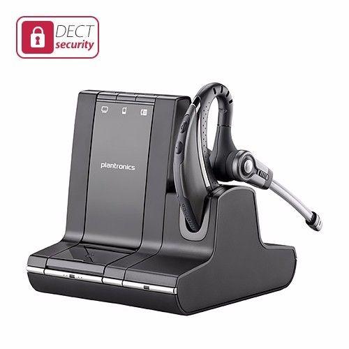 Plantronics WO2 Base Bluetooth Dect 6.0 w/ WH210 Cradle Wireless Headset