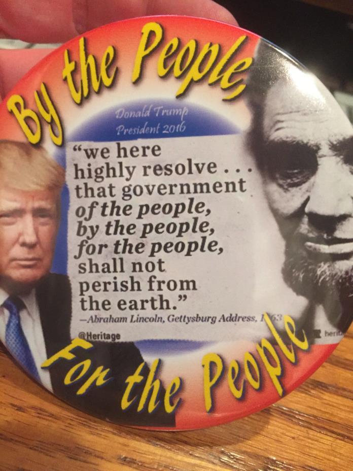 Donald Trump Abraham Lincoln  button pinback