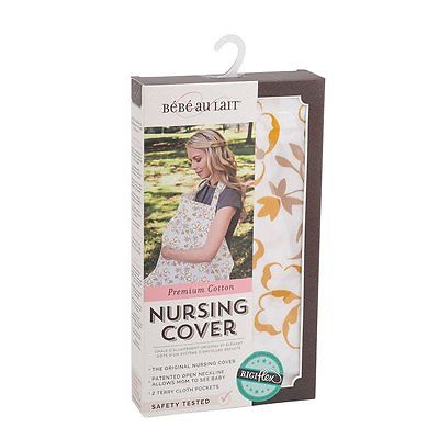 Bebe au Lait Premium Cotton Nursing Cover, Blume
