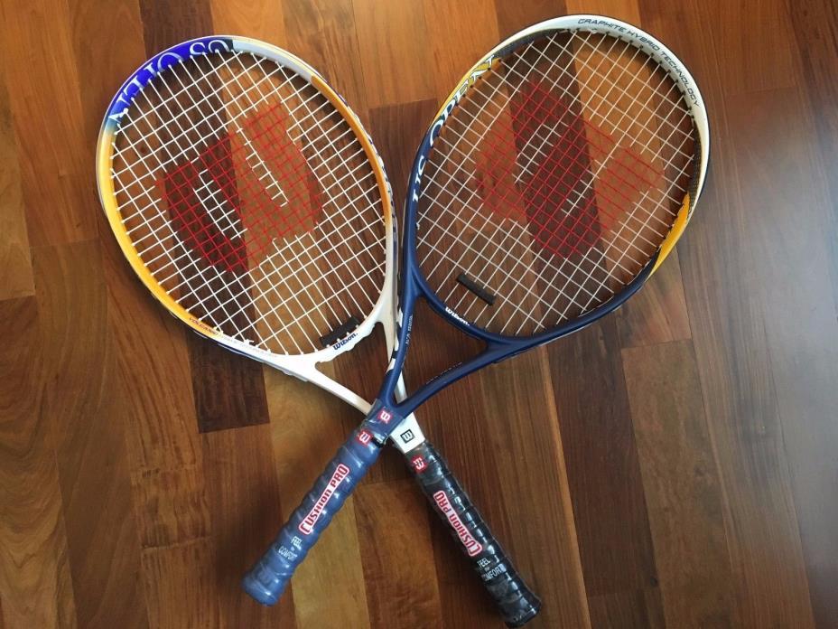 2 - Wilson Tennis Racquet US OPEN 4 3/8 L3 & 4 1/2 L4 Cushion Grip