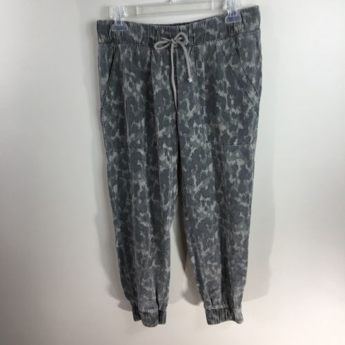 Cloth & Stone Anthropologie Women's Small Camo Drawstring Joggers Lightweight Pa