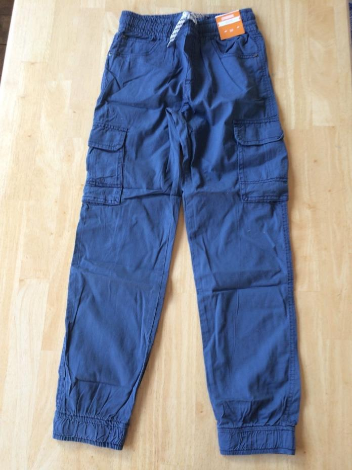 NWT Gymboree Boys Pull on Pants Blue Cargo Jogger 4,5,6,8