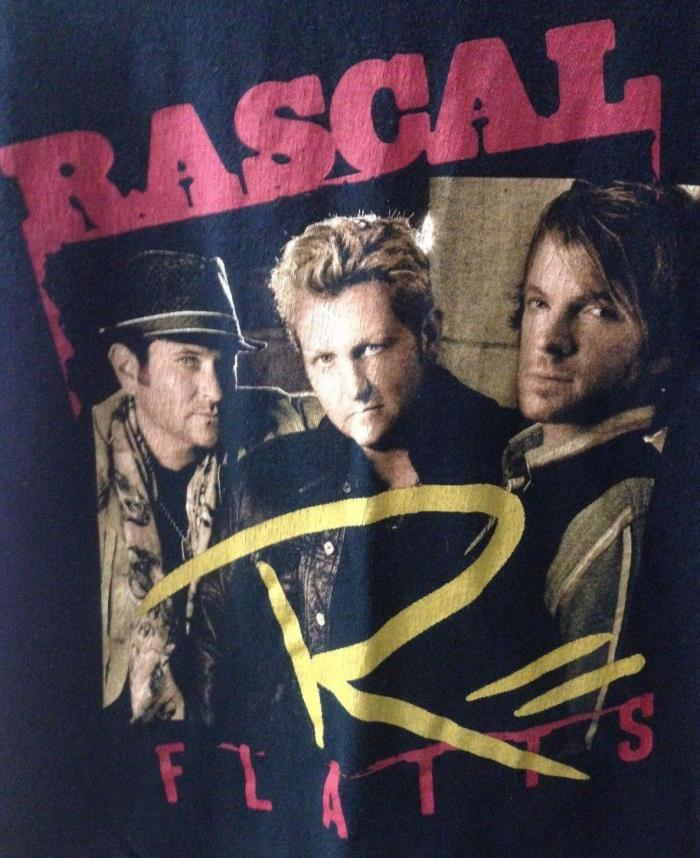 Rascal Flatts Changed Tour 2012 Black Concert T Shirt Size Medium Country Music