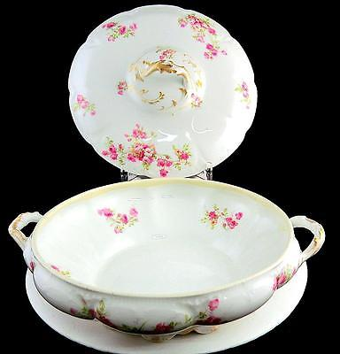 CH. FIELD HAVILAND GDA LIMOGES FRANCE PINK ROSES 8 1/4