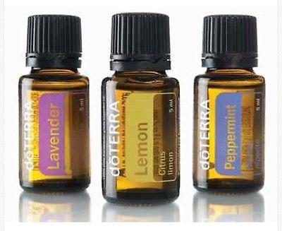 DoTERRA essential oil starter kit ( Lavender, pepermint and lemon) new info box