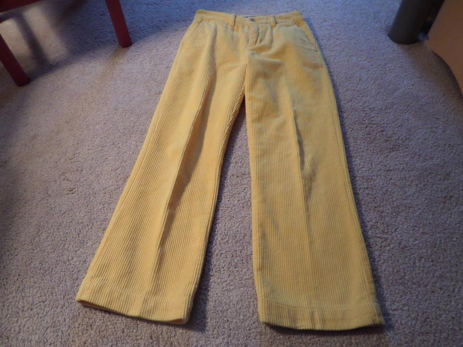youth boys yellow ralph lauren corduroy pants size 8 (Great Condition)